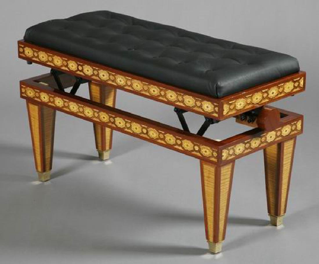 Steinway & Sons marquetry inlaid grand piano - 5
