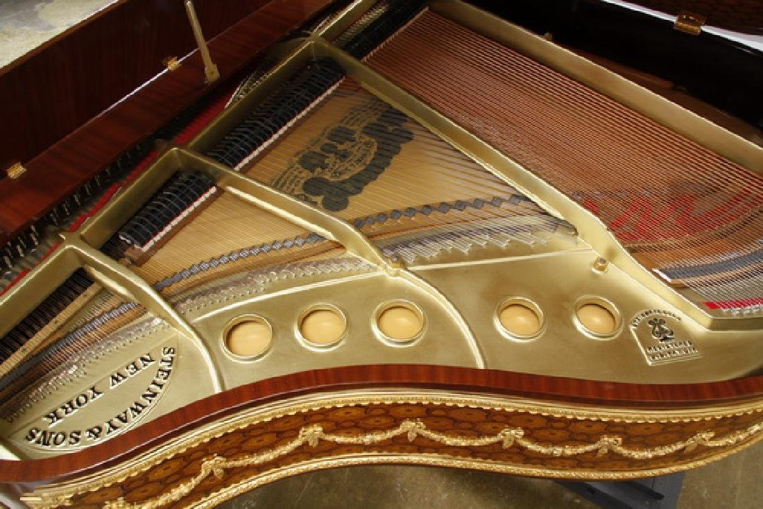 Steinway & Sons marquetry inlaid grand piano - 6