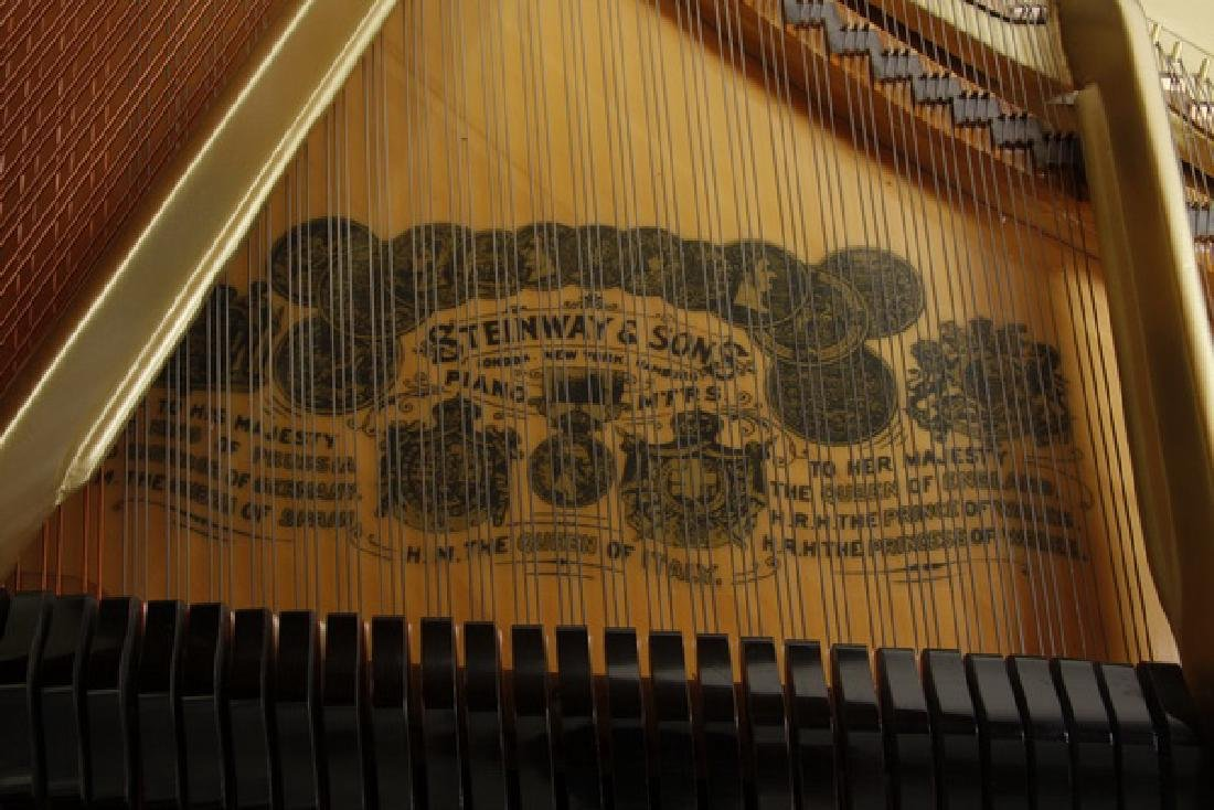 Steinway & Sons marquetry inlaid grand piano - 7