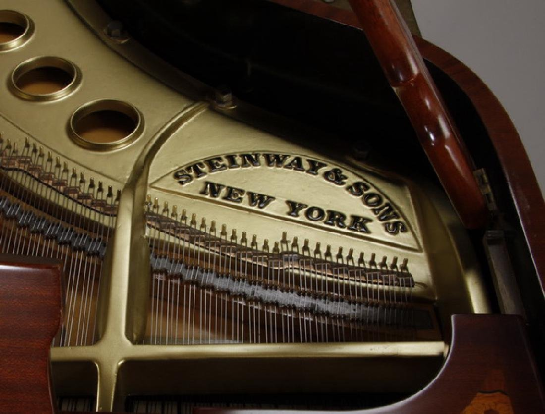 Steinway & Sons marquetry inlaid grand piano - 8