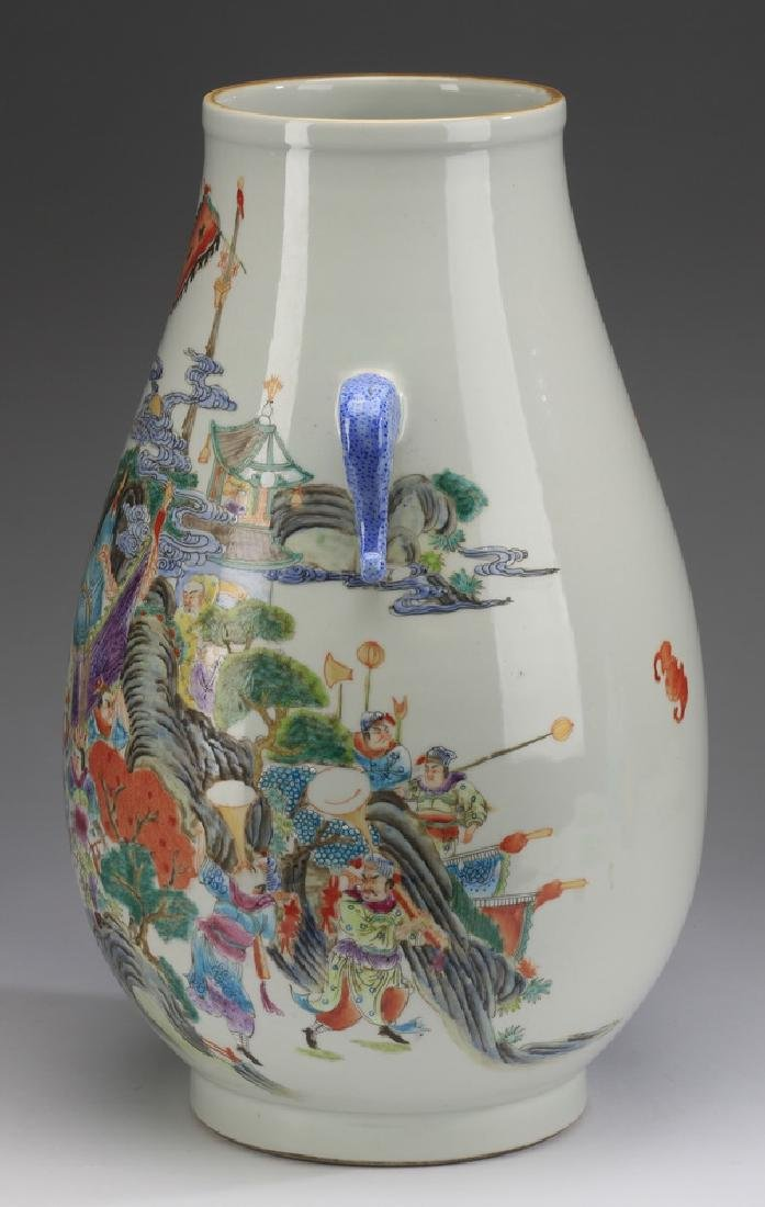 """Chinese Hu vase, with court procession, 17""""h - 2"""