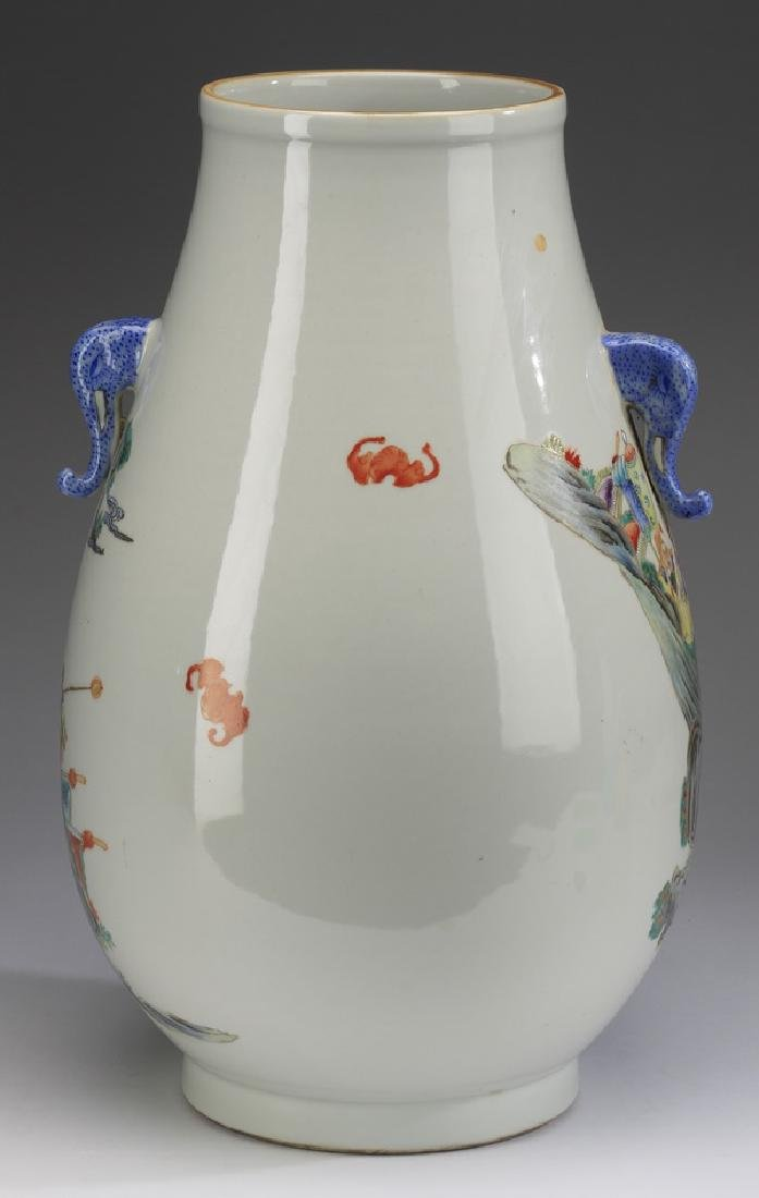 """Chinese Hu vase, with court procession, 17""""h - 3"""