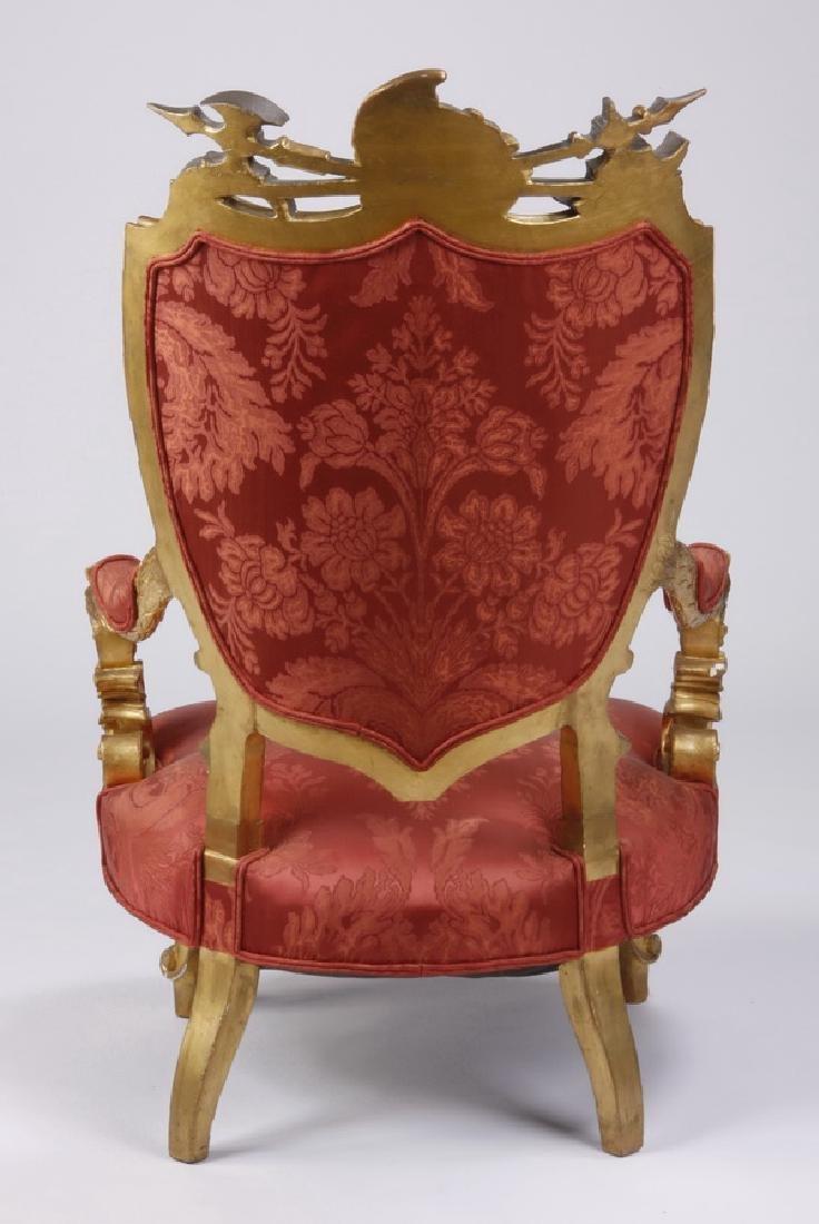 (2) 18th c. Venetian gilt wood armchairs - 8