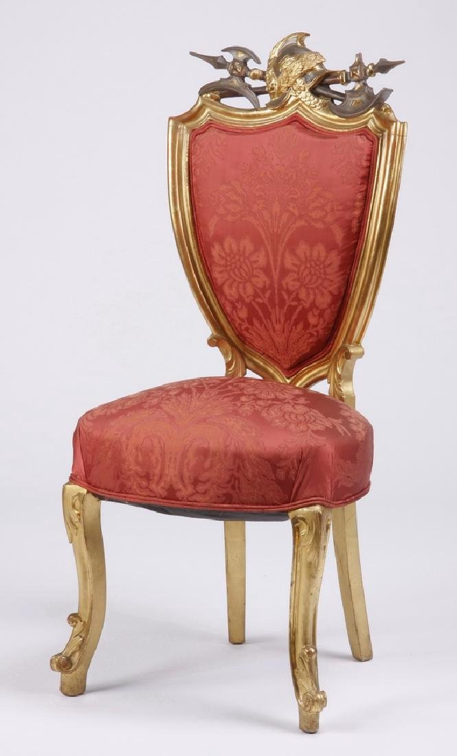 (6) 18th c. Venetian gilt wood side chairs - 2