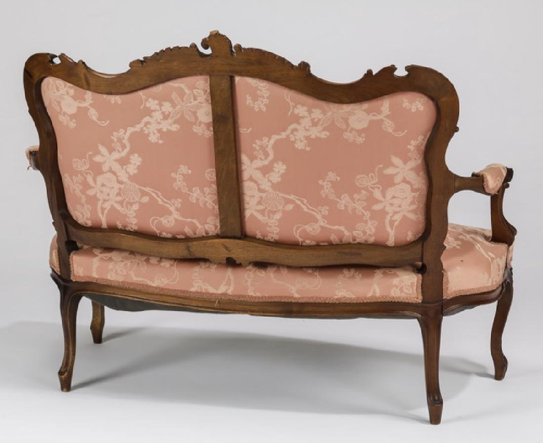 19th c. French Louis XV style walnut settee - 2