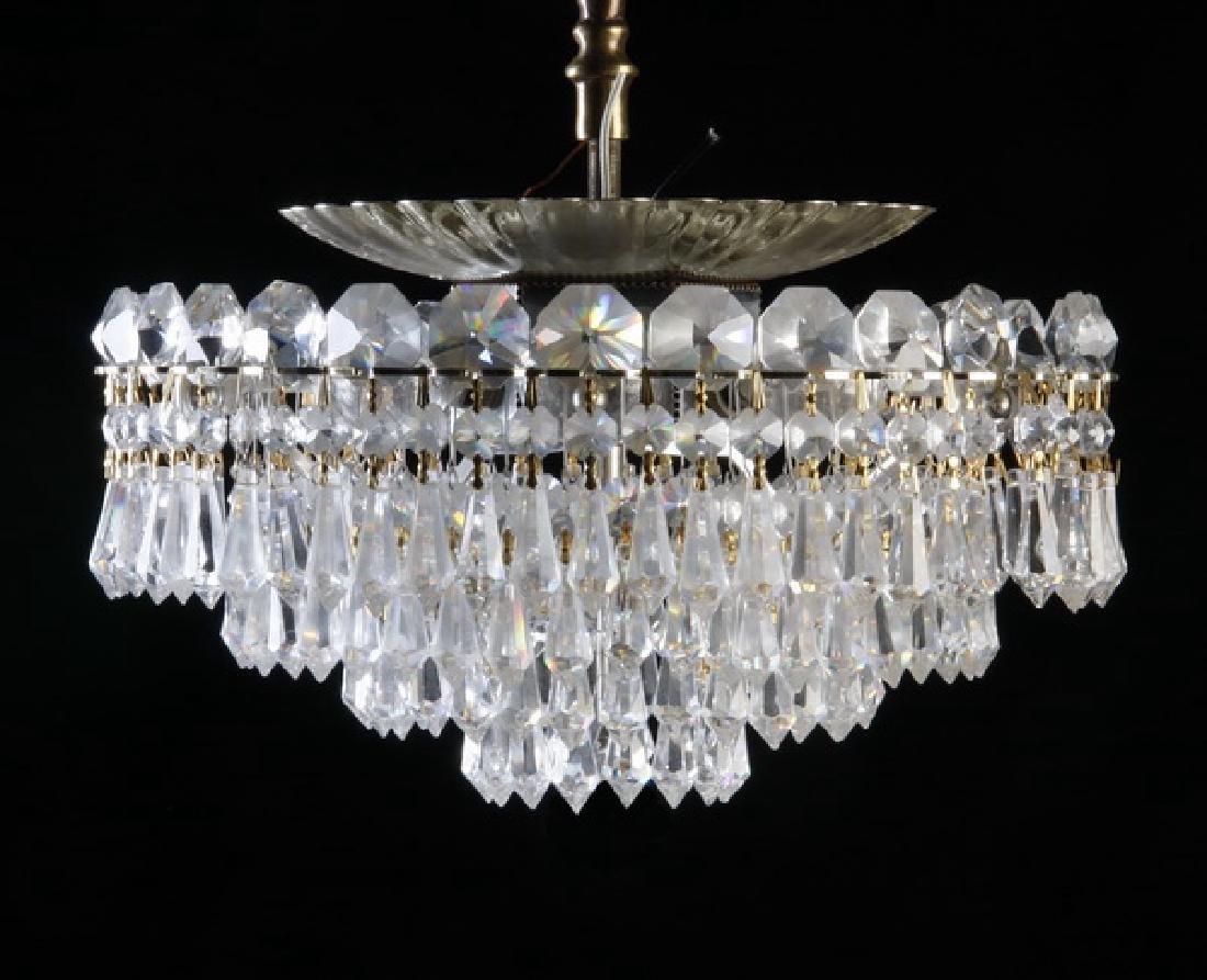 """Schonbek 6-light crystal ceiling fixture, 12""""w"""