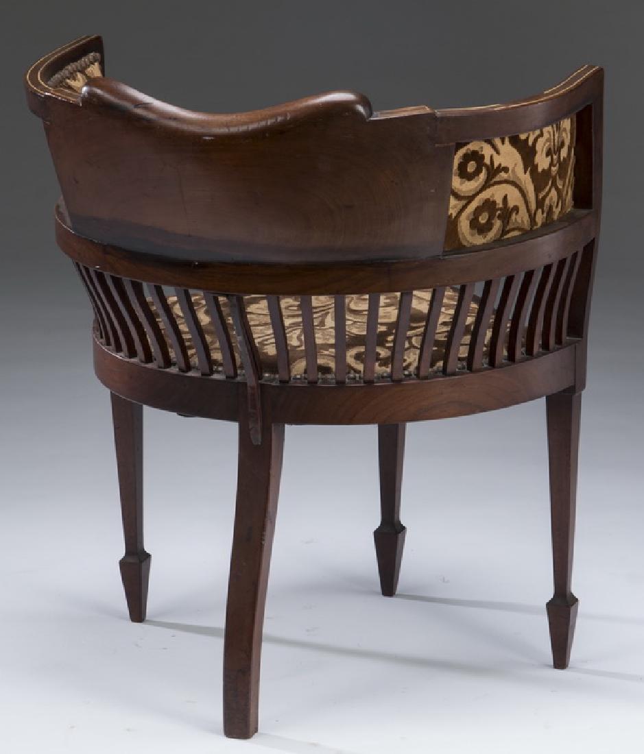 "Edwardian mahogany inlaid corner chair, 26""h - 2"