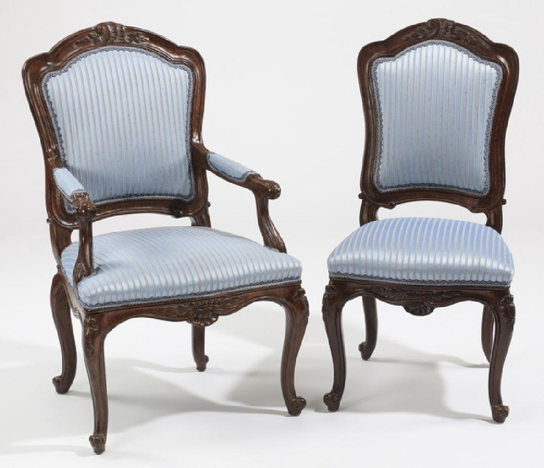 (8) French Provincial upholstered chairs - 2