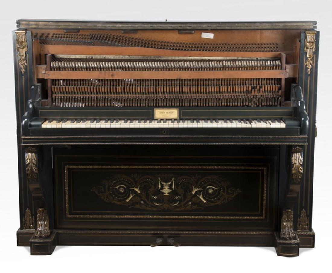 """Louis Benoit, France Exhibition piano, c. 1880, 47""""h - 3"""