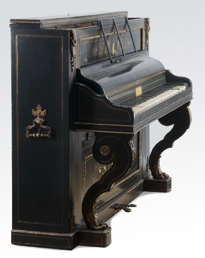 """Louis Benoit, France Exhibition piano, c. 1880, 47""""h - 8"""