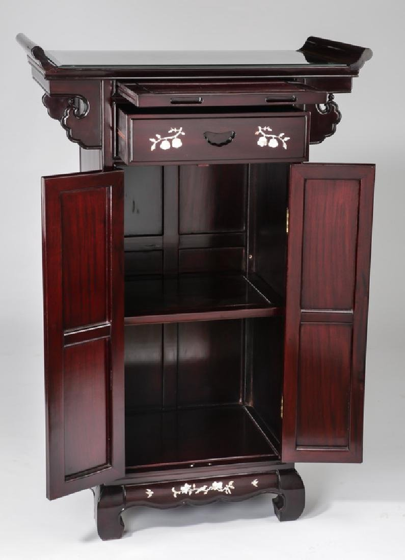 Chinese rosewood altar cabinet with mother of pearl - 2