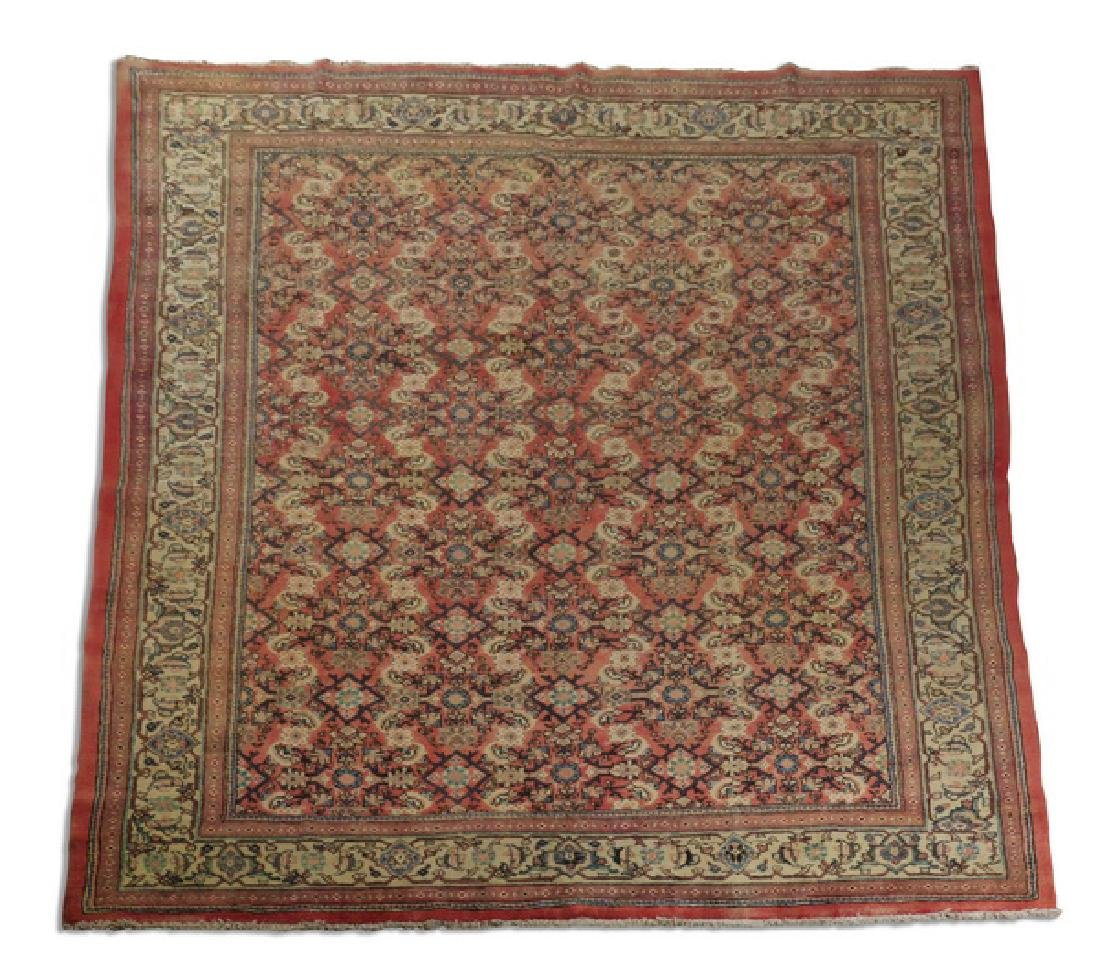 Hand knotted Persian wool rug, 9 x 12