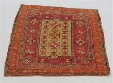 Turkish double mirhab prayer rug, 5 x 4