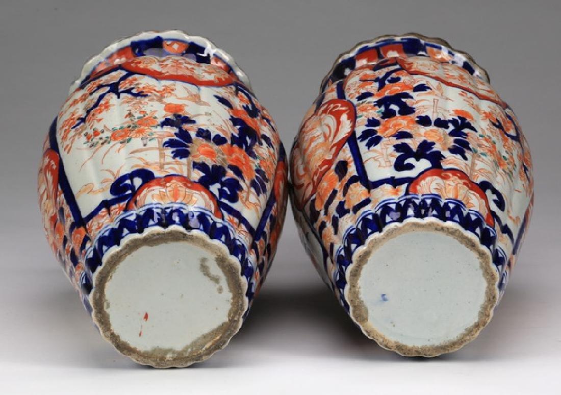 (2) Japanese Imari porcelain vases, 19th c. - 3