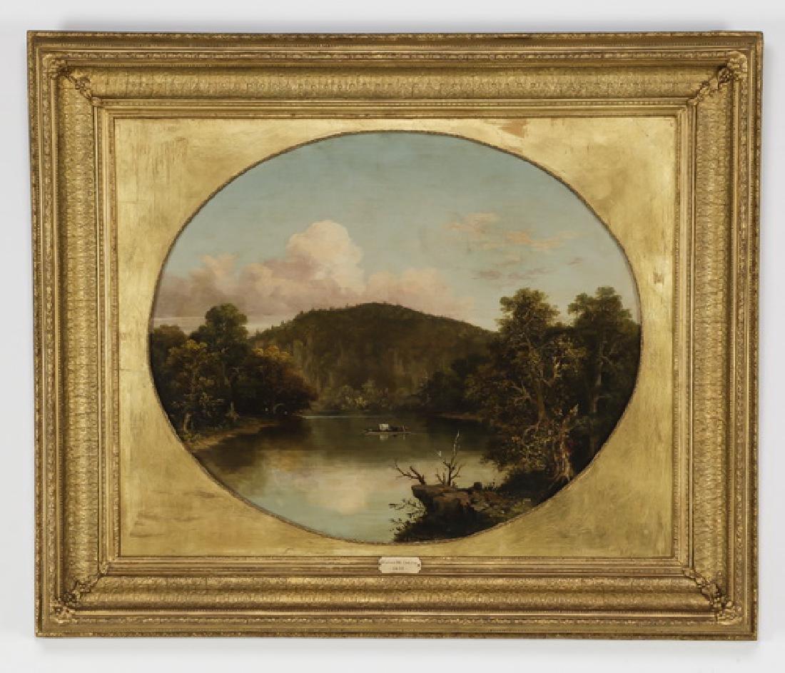 Walter Oddie signed American O/c landscape, 19th c.
