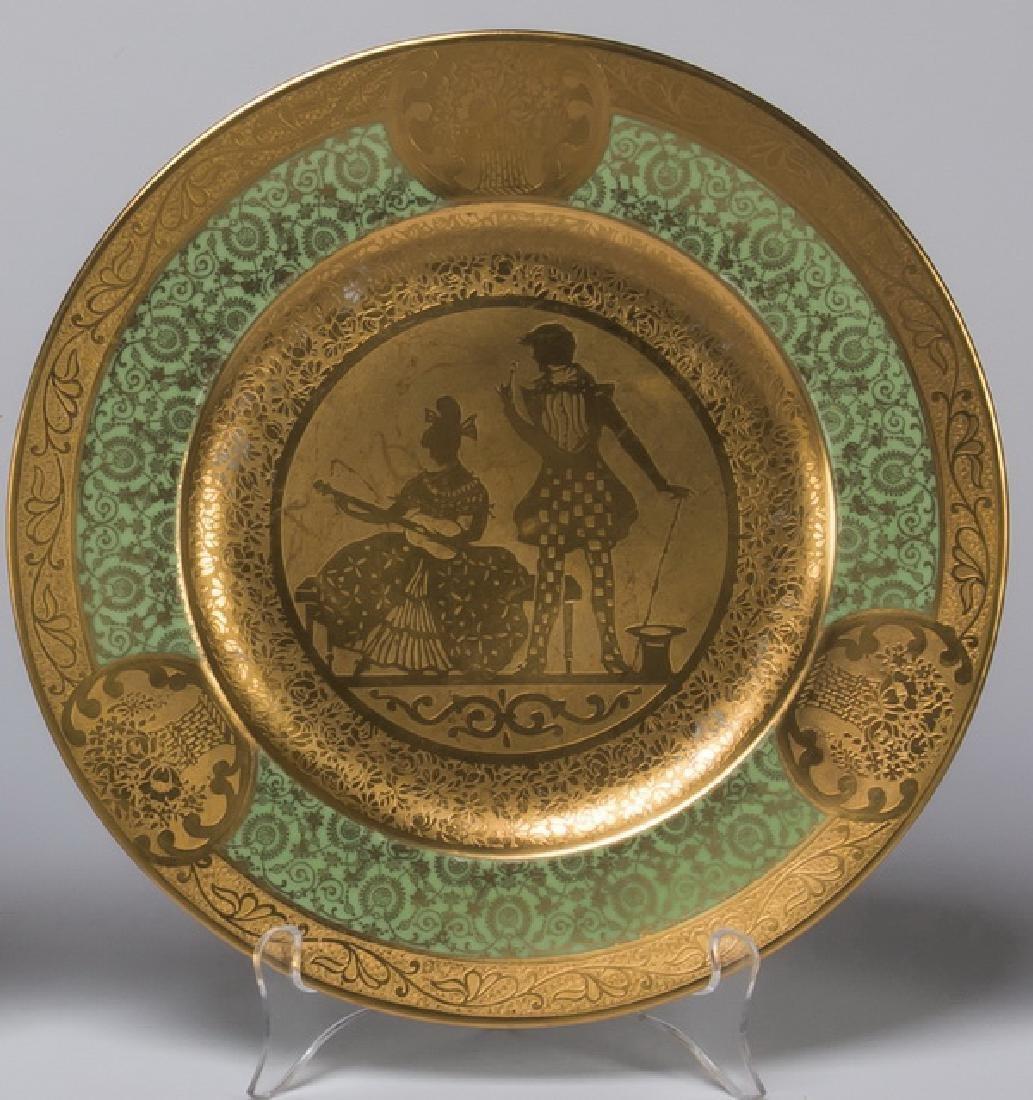 Set of 12 French Limoges porcelain cabinet plates - 5