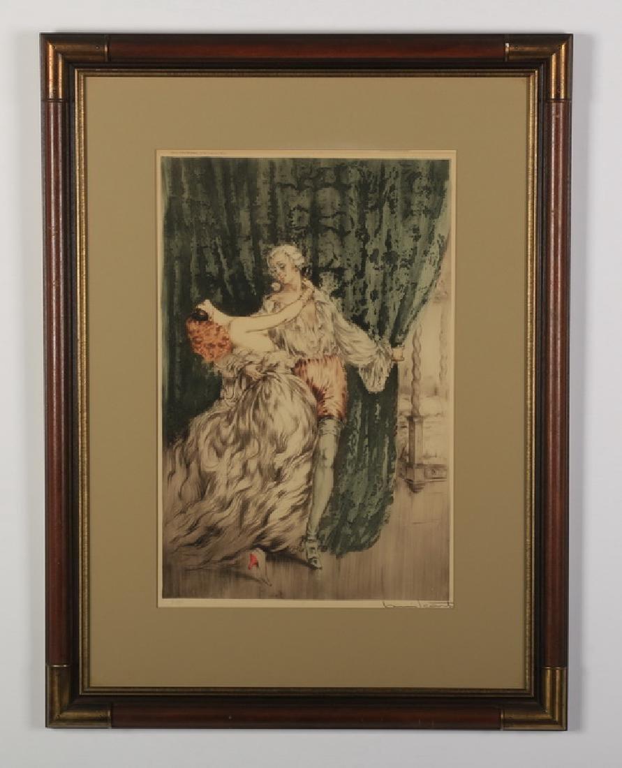 Louis Icart signed etching, titled 'Casanova'