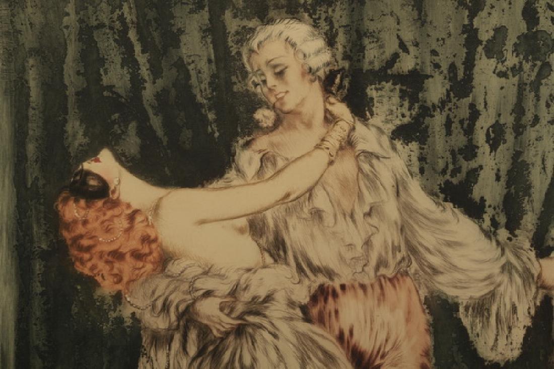 Louis Icart signed etching, titled 'Casanova' - 2