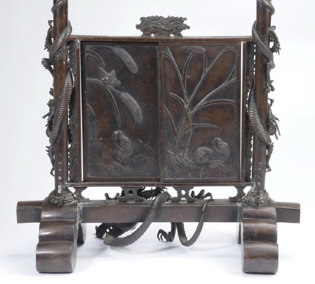 """Japanese Meiji period bronze koro, 30""""h - 6"""