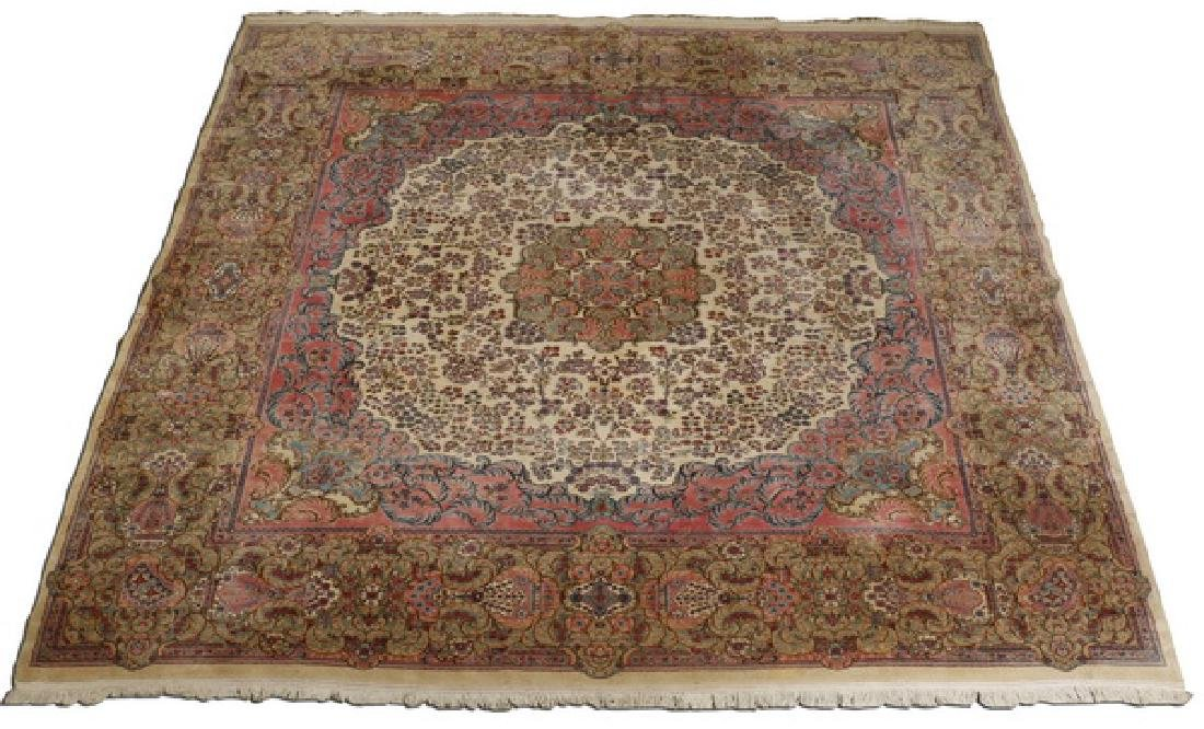 Early 20th c.hand knotted Persian Kerman rug, 13 x 15