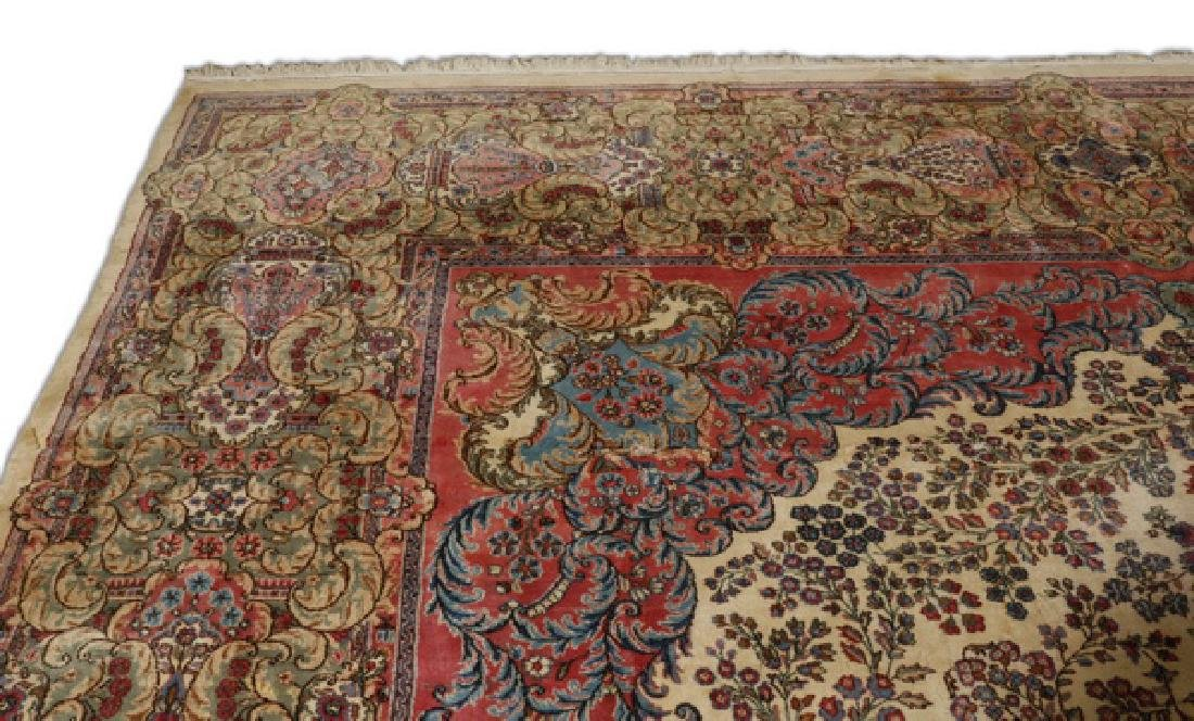 Early 20th c.hand knotted Persian Kerman rug, 13 x 15 - 2