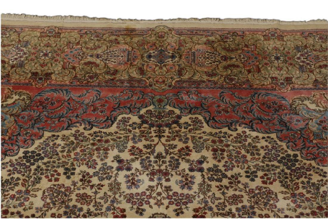 Early 20th c.hand knotted Persian Kerman rug, 13 x 15 - 3