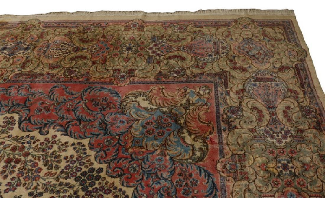 Early 20th c.hand knotted Persian Kerman rug, 13 x 15 - 4