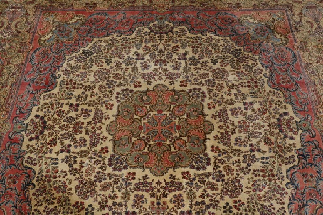 Early 20th c.hand knotted Persian Kerman rug, 13 x 15 - 5