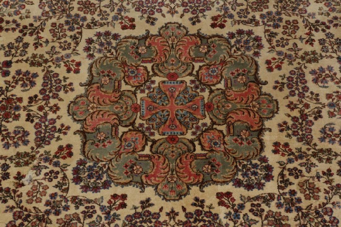 Early 20th c.hand knotted Persian Kerman rug, 13 x 15 - 6