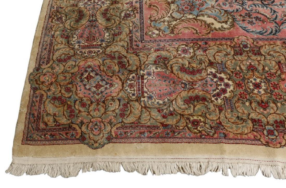 Early 20th c.hand knotted Persian Kerman rug, 13 x 15 - 7