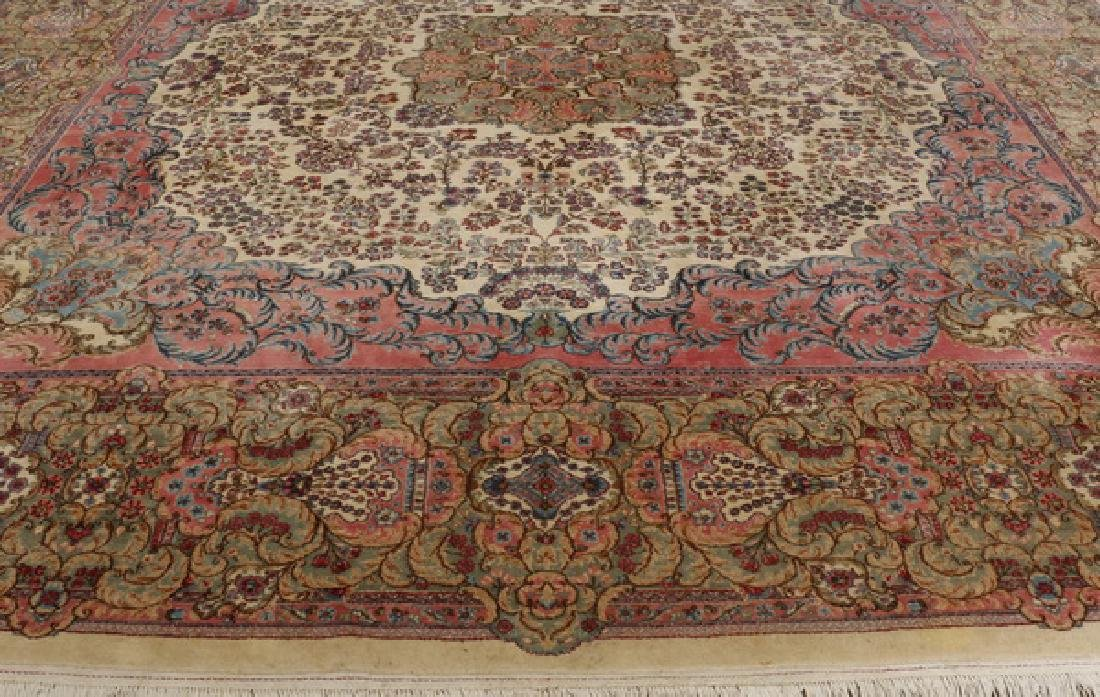 Early 20th c.hand knotted Persian Kerman rug, 13 x 15 - 8