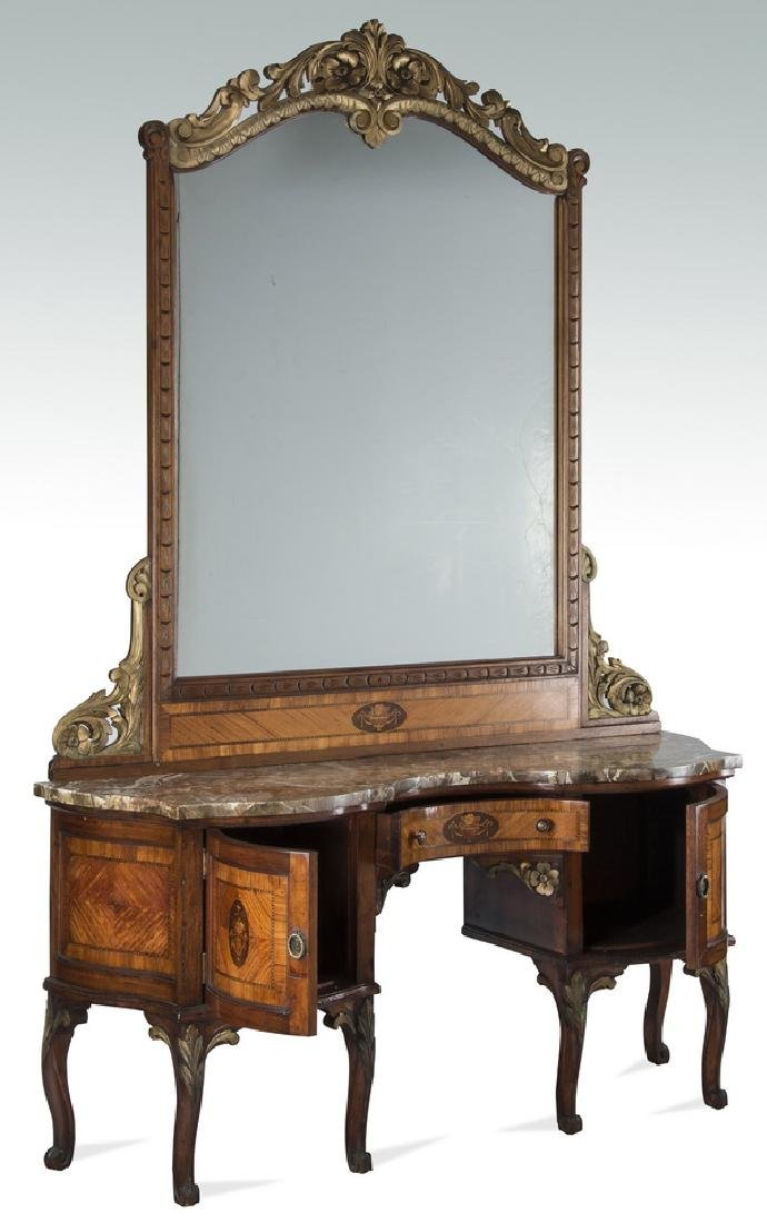 "Louis XV style parcel gilt dressing table, 83""h - 2"
