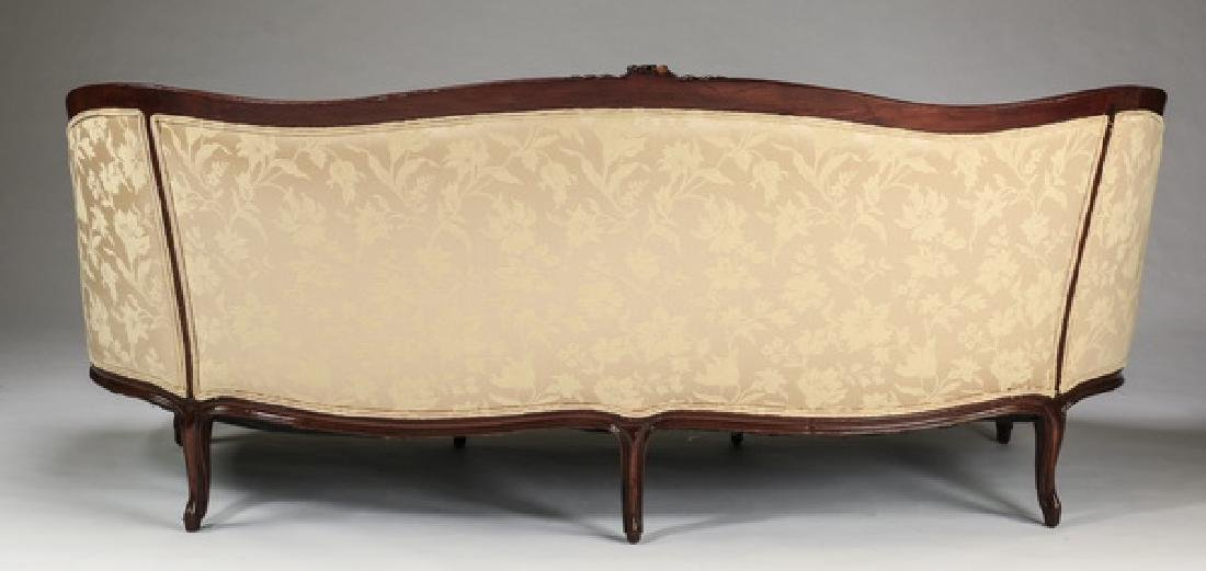 """French canape' in damask upholstery, 73""""l - 3"""