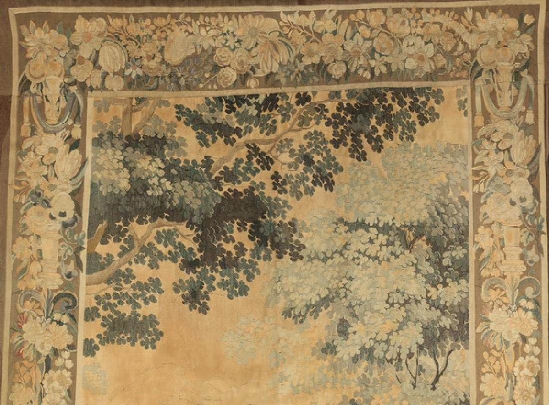 "19th c. hand woven tapestry w/ landscape scene, 110""h - 2"