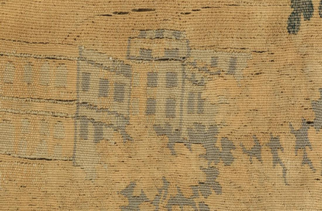 "19th c. hand woven tapestry w/ landscape scene, 110""h - 6"