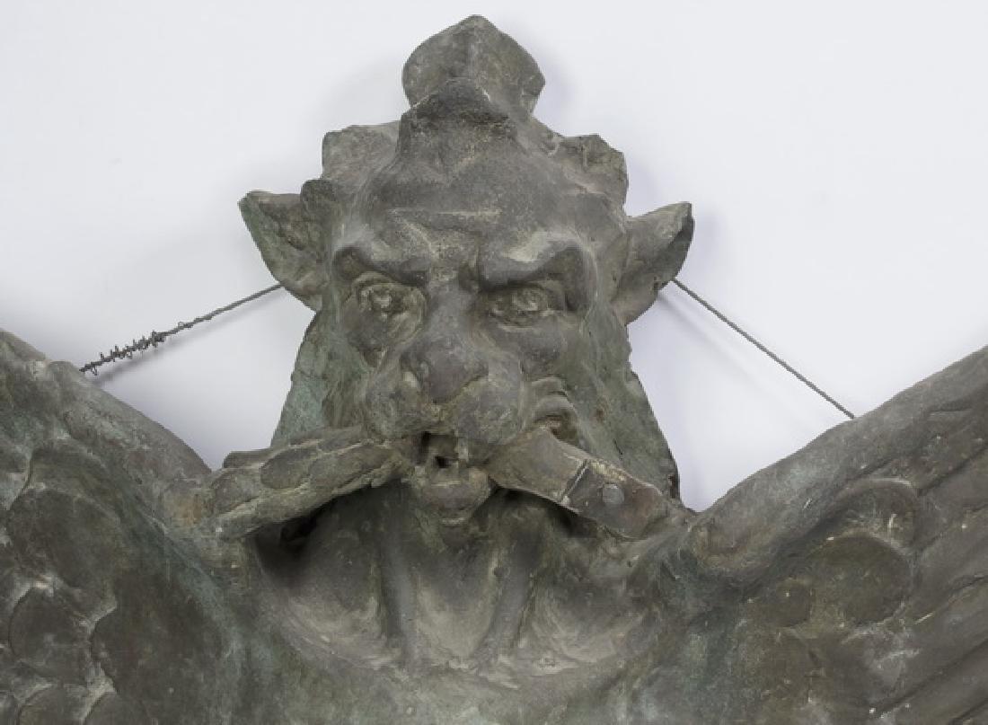 (2) Bronze griffin monopodia architectural plaques - 2