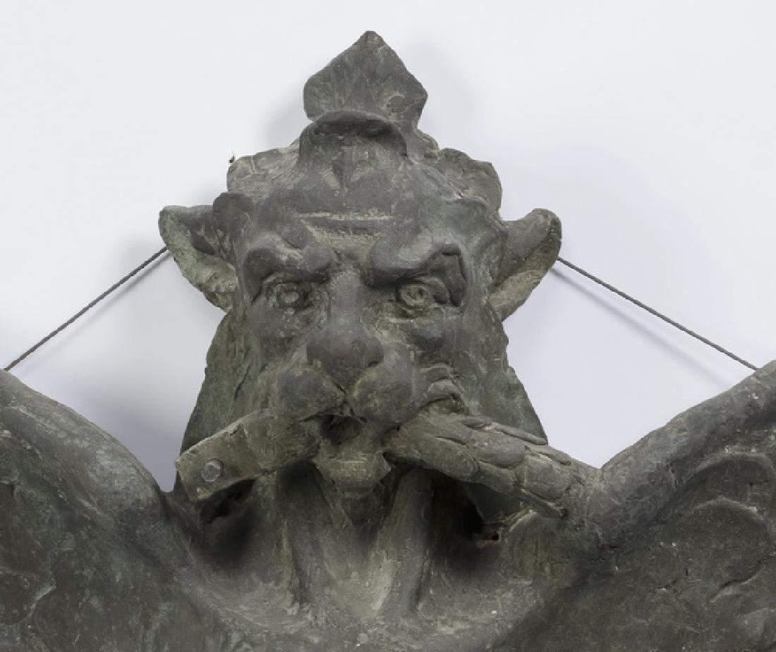 (2) Bronze griffin monopodia architectural plaques - 3