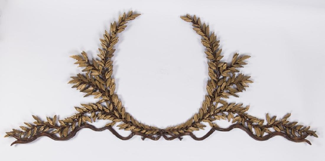 "Continental gilt wood laurel wreath, 96"" long"