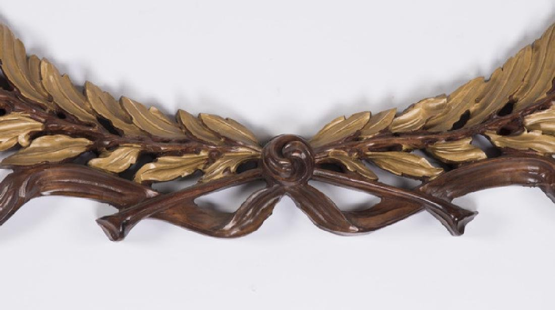 "Continental gilt wood laurel wreath, 96"" long - 2"
