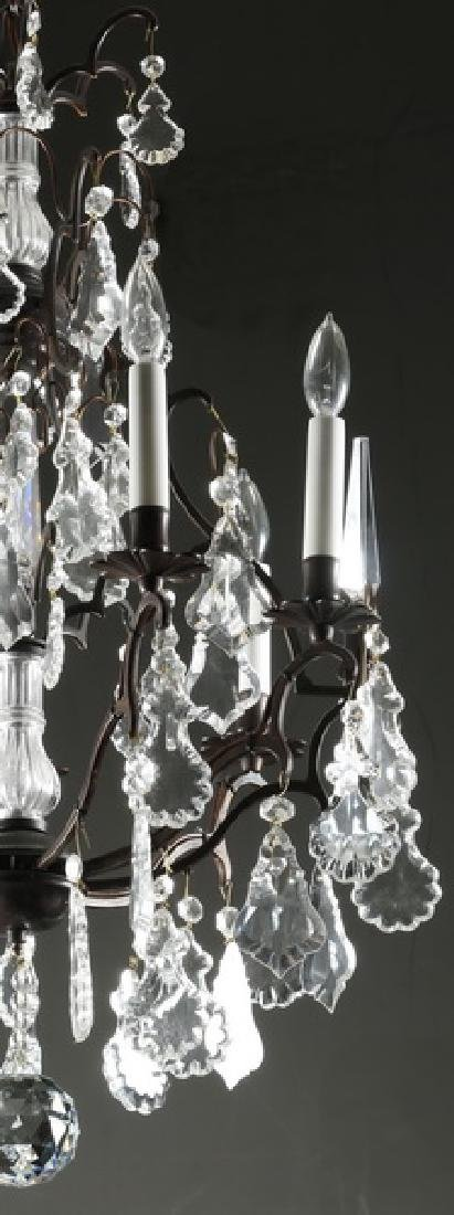 """Crystal, patinated metal 9-light chandelier, 32""""h - 5"""