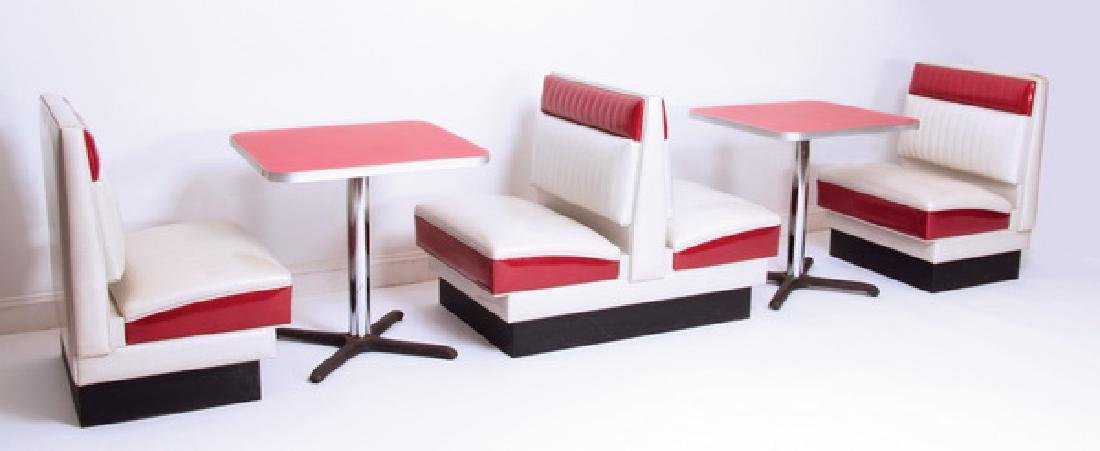 (5) Piece retro soda shop booths & tables