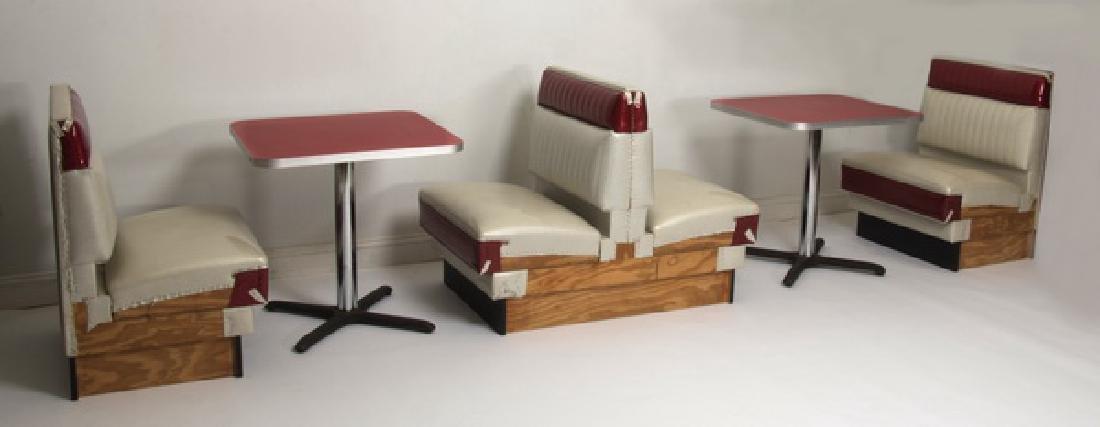 (5) Piece retro soda shop booths & tables - 2
