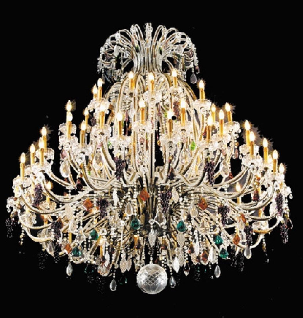 "Massive Murano crystal chandelier, 77""h"