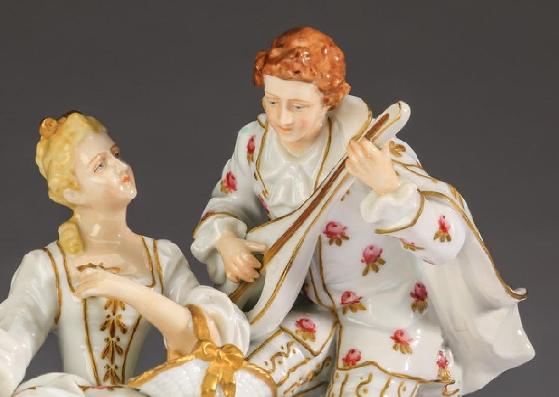 Late 19th c. Muller porcelain grouping, marked - 2