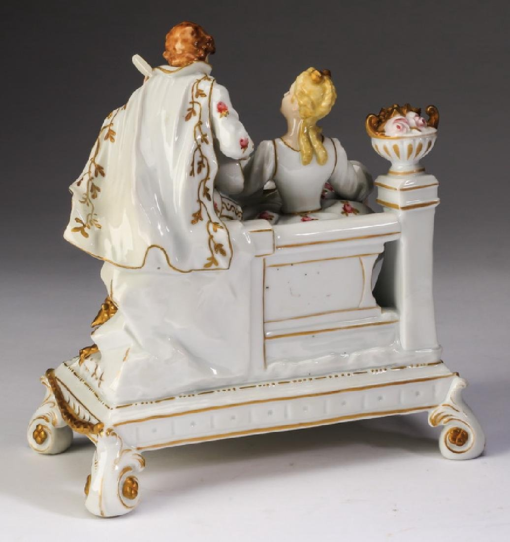Late 19th c. Muller porcelain grouping, marked - 3