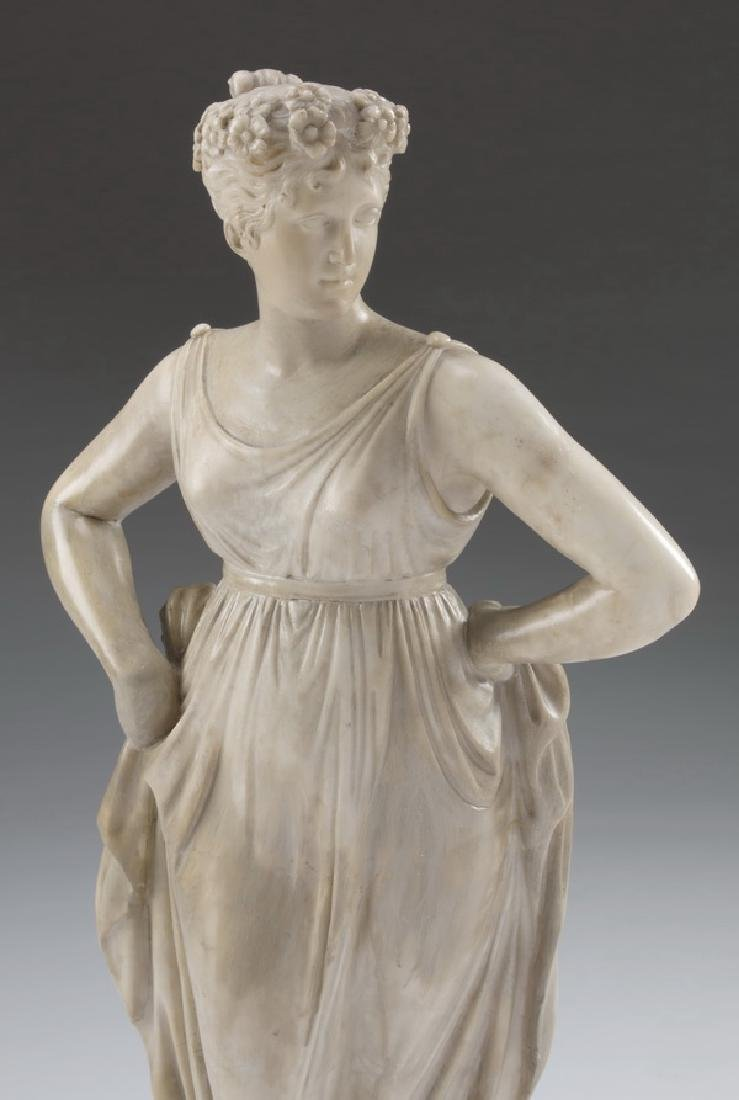 19th c. marble sculpture, 'The Dancer', after Canova - 2