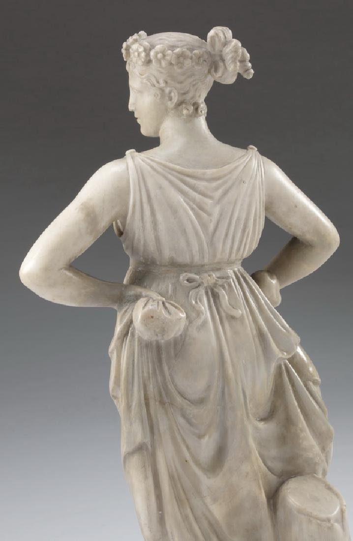 19th c. marble sculpture, 'The Dancer', after Canova - 3