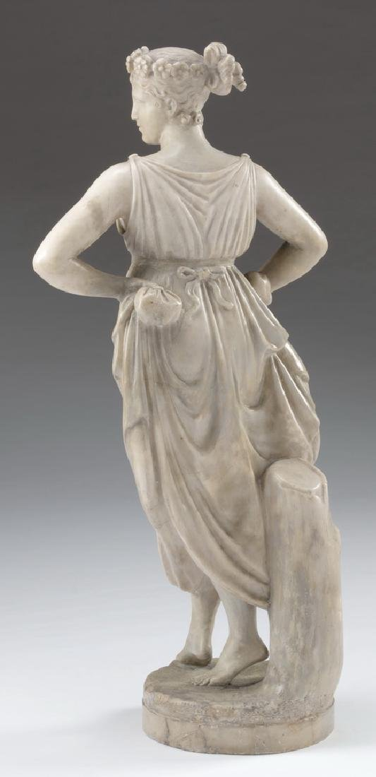 19th c. marble sculpture, 'The Dancer', after Canova - 4