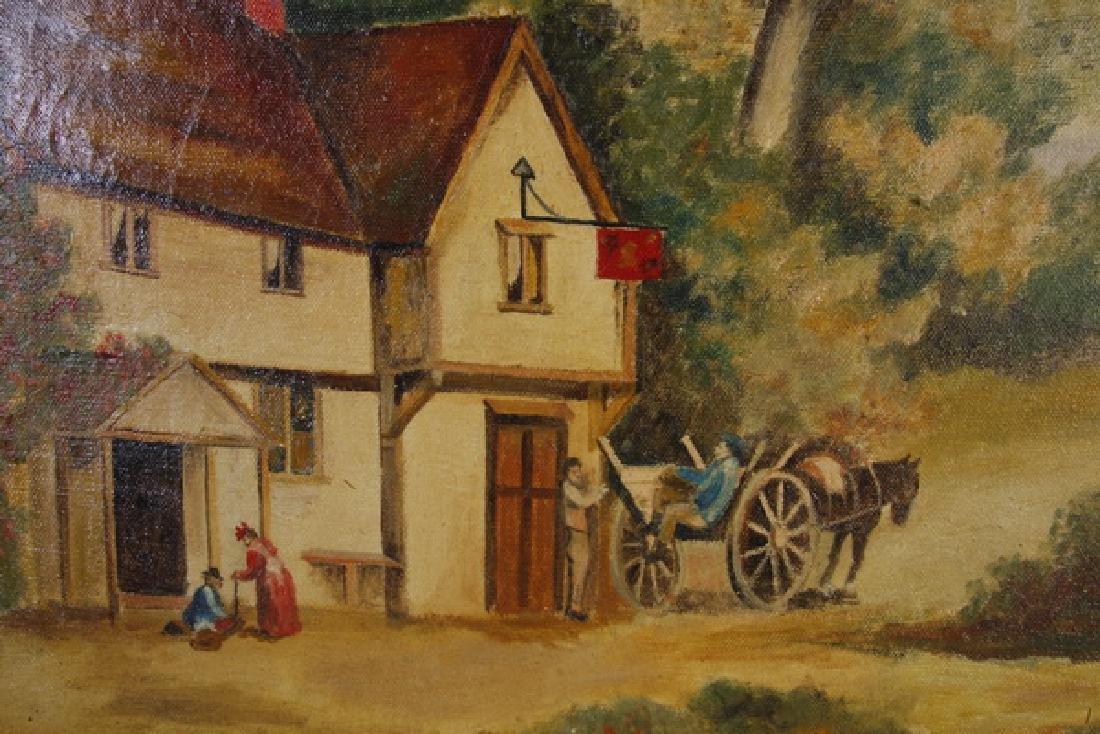 British O/c farmhouse scene, signed - 2
