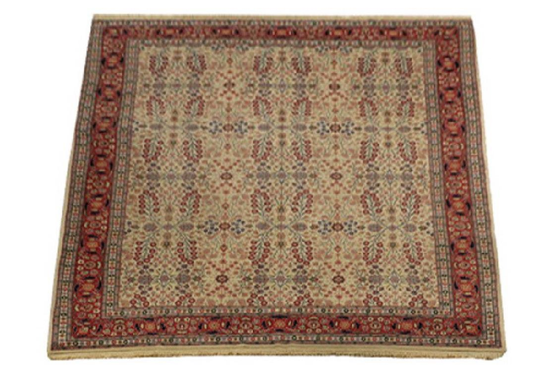 Hand knotted Turkish Hereke wool rug, 12 x 8